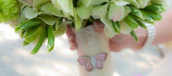 {Magnolia Plantation Conservatory} Pink Peonies & Butterflies