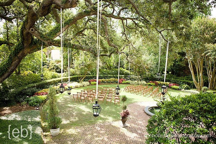 Governor thomas bennett house wedding wildflowersinc hanging lanterns at thomas bennett house charleston sc junglespirit