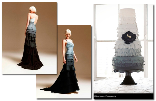 Gray Ombre Cake Dress