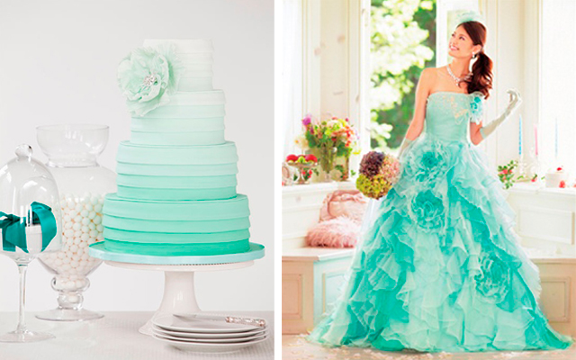 Teal Ombre Cake Dress