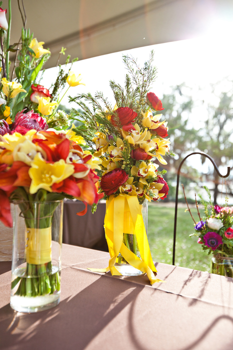 Red and Yellow Bouquets Boone Hall Plantation