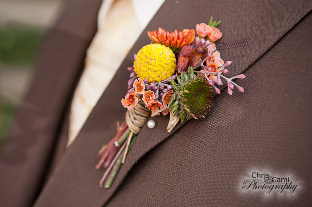 fall boutonniere by WildFlowers, Inc.