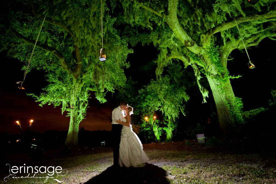 Lanterns Magnolia Plantation Wedding