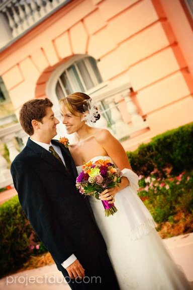Bride and Groom at The Palmer Home, Charleston, SC