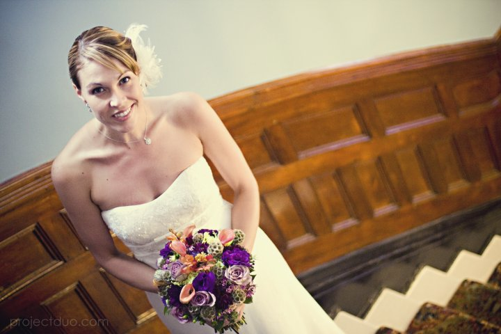 Bride with Bouquet at The Palmer House, Charleston, SC