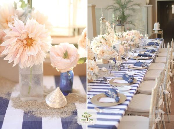 Navy Blue And Blush Wedding Wildflowersinc