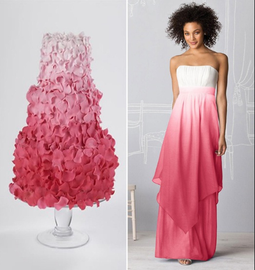 ombre-cake-bridesmaid-dress