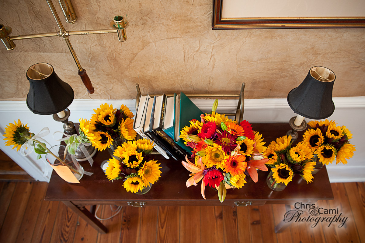 Fall centerpieces by WildFlowers, Inc., Summerville, SC