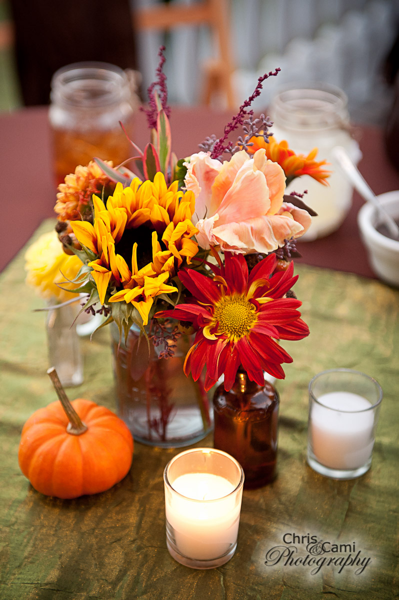 Fall centerpiece by WildFlowers, Inc., Summerville, SC