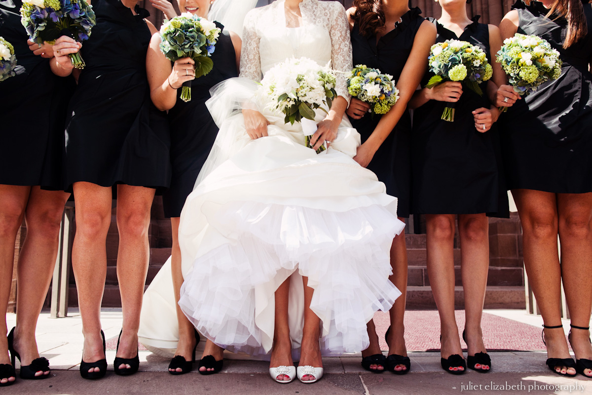 Bride & Maids at Cathedral