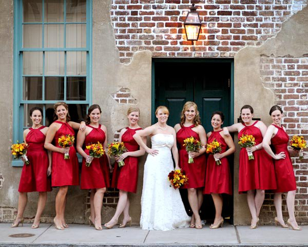 Fall bridal party