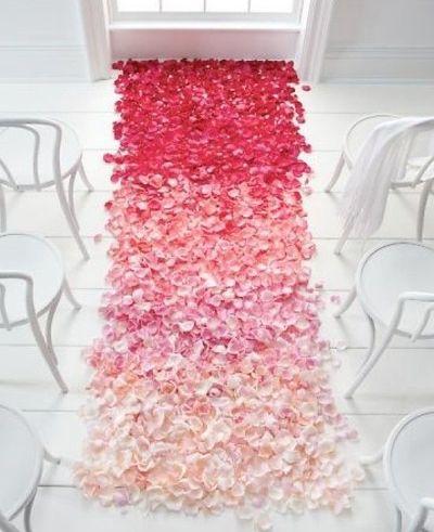 ombre aisle of petals