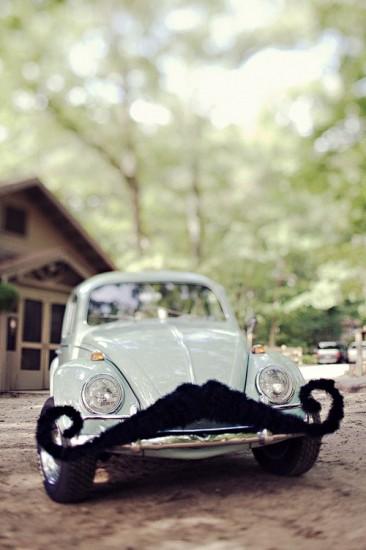 Vintage Volkswagoe with Mustache