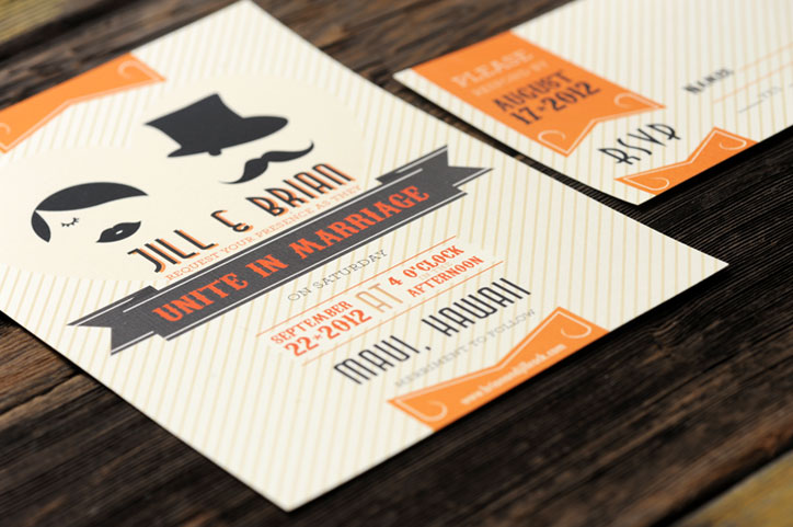 Mustache Wedding Invitation
