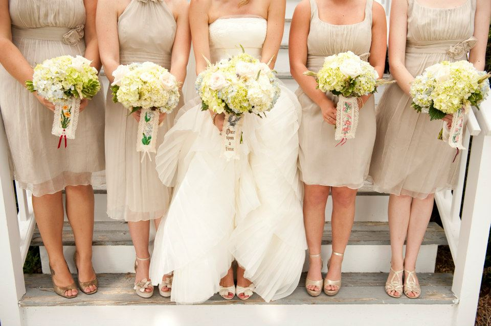 Bridal Party Bouquets at Oyster House Farms