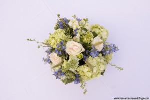 Hydrangea, Garden Roses, Delphiunium, Harbs and Grasses