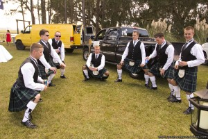 Groom and Men in Kilts