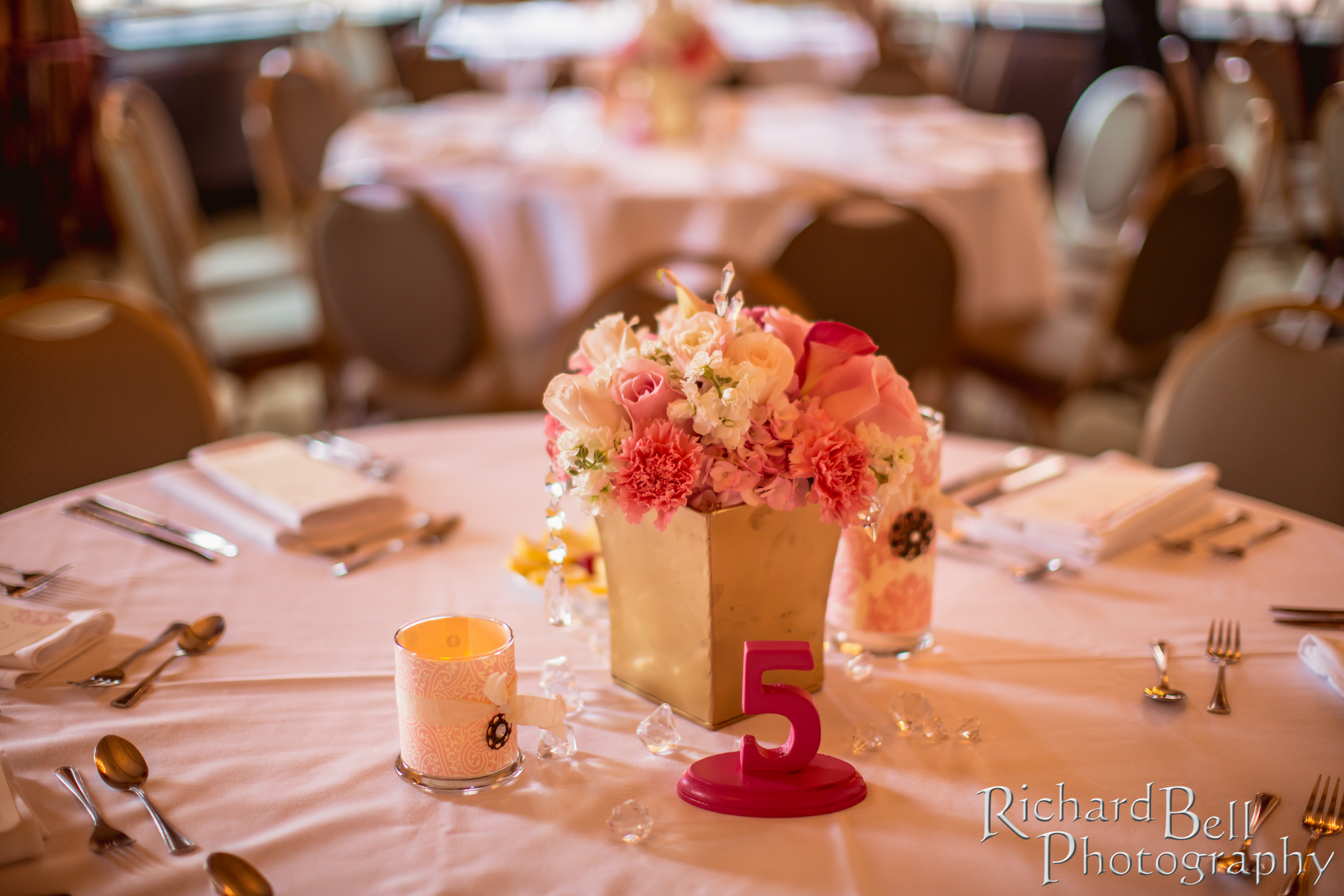 Gold With Pink And White Wedding Flowers Wildflowersinc