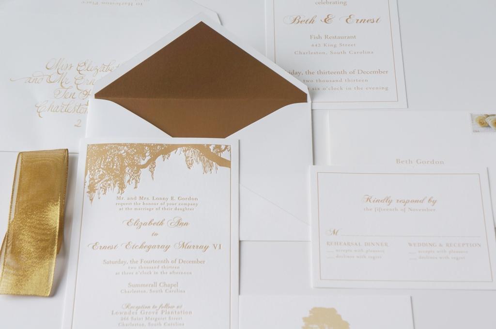 Gold Wedding Invite